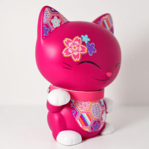Mani the lucky cat fuchsia, profil
