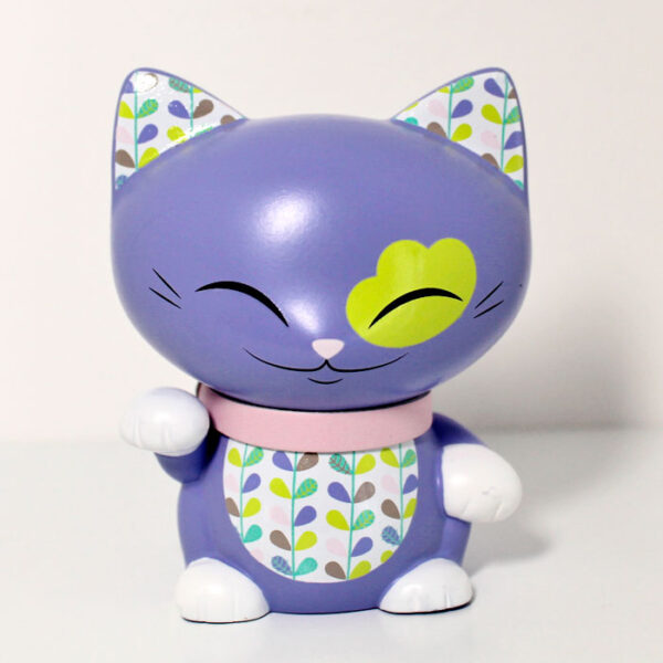 Mani the lucky cat mauve, 7 cm
