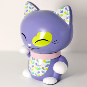 Mani the lucky cat mauve, profil