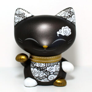 Mani the lucky cat noir et or