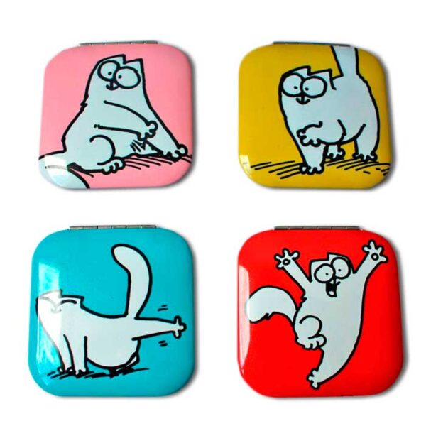 Miroir de poche Simon's Cat, 4 couleurs