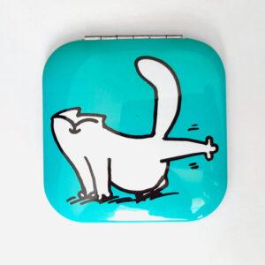 Miroir Simon's Cat bleu