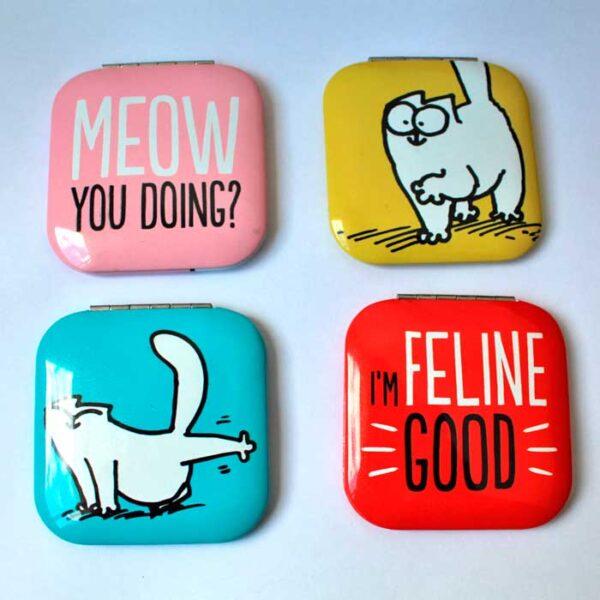 Miroirs Simon's Cat avec message en anglais au dos
