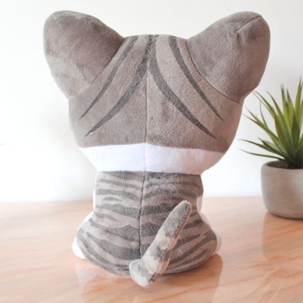 Grande peluche de chat rieur, collection Kawaï - dos