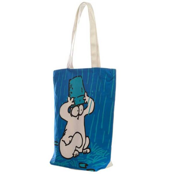Tote Bag Simon's Cat bleu