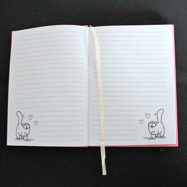 Bloc notes chat Simon's Cat, ouvert