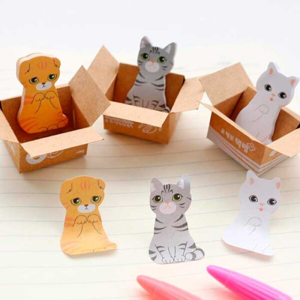 Cat in the box, notes autoccolantes