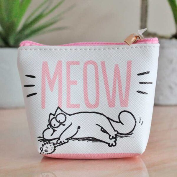 Porte-monnaie Simon's Cat blanc