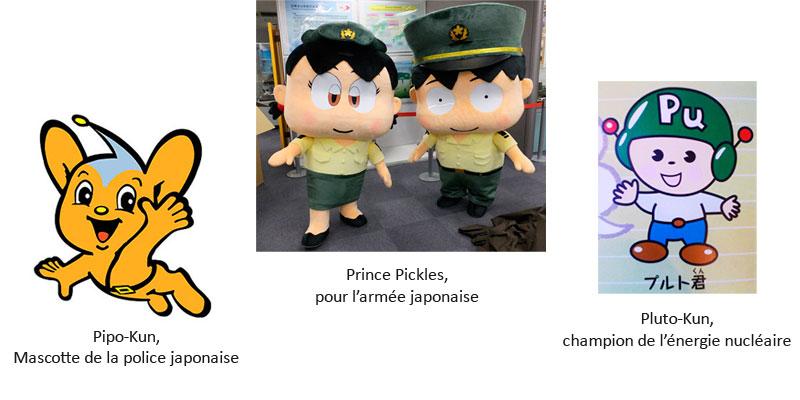Les mascottes du Japon
