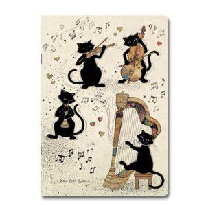 Cahier Chats musiciens de la collection Bug Art, format A5