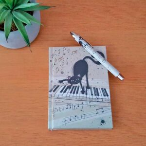 Carnet Chat sur un piano A6, collection Bug Art