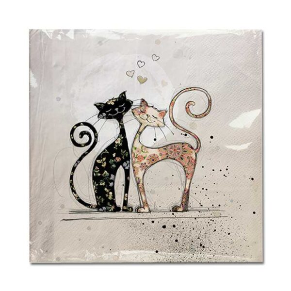Serviettes en papier Chats de la collection Bug Art