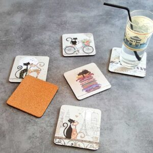 Sous-verres Chats de la collection Bug Art