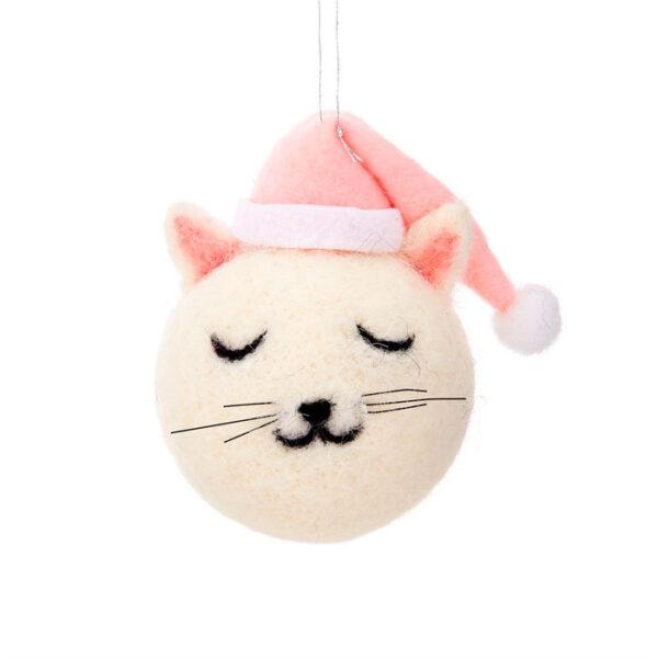 Boule Chat à sapin de Noël Cutie Cat