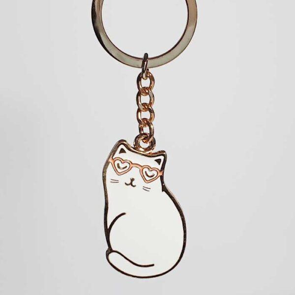 Porte-clés Chat blanc Cutie Cat
