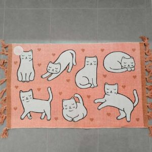 Tapis Chat Cutie Cat avec pompons