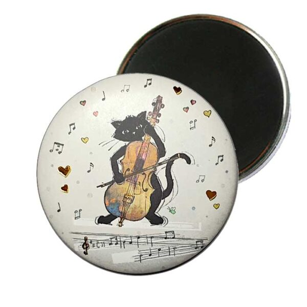 Magnet Bug Art Chat et violoncelle