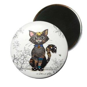 Magnet Chat noir de Bug Art