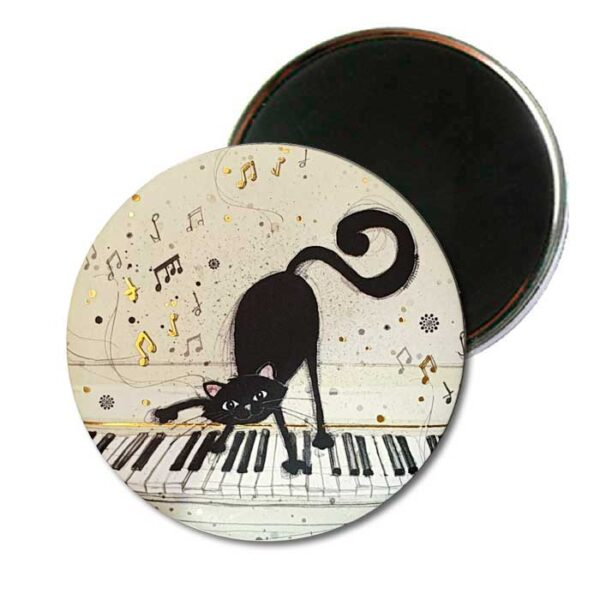 Magnet Bug Art Chat et piano