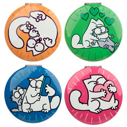 Miroirs Simon's Cat, couleurs pop