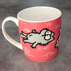 Mug Simon's Cat humour rose