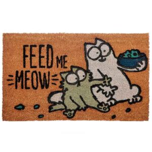 "Paillasson Chat Simon's Cat ""Feed me meow"""
