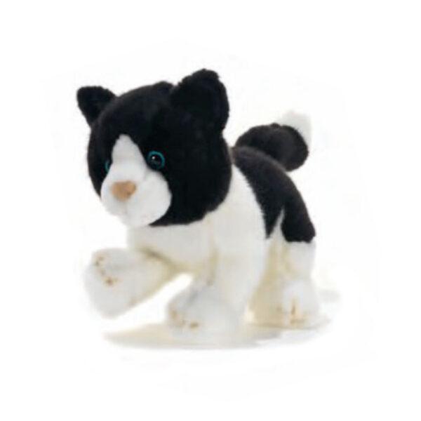 Petite peluche chat blanc et noir