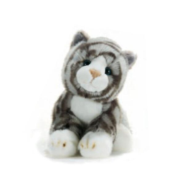 Petite peluche chat tigré gris