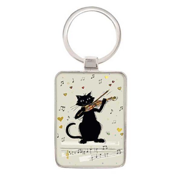 Porte-clés Bug Art Chat violon