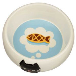 Bol Gamelle en céramique pour chat, bleu