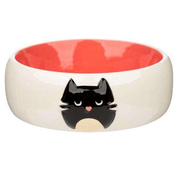 Bol Gamelle en céramique pour chat, rose