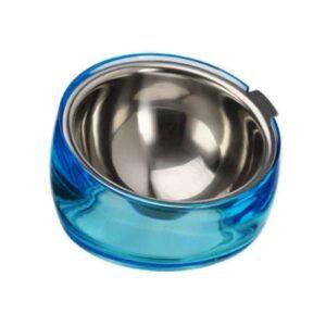 Gamelle pour chat inclinée avec bol inox amovible
