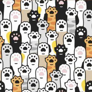 Masque Pattes de chat en tissu microfibre