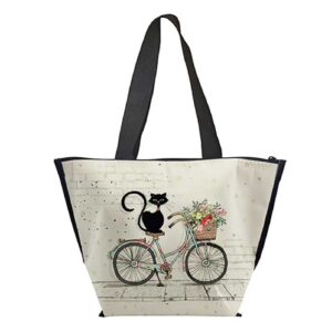 Lunch bag isotherme Chat sur un vélo, Bug Art Chats