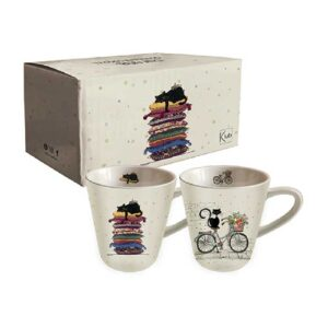 Deux Tasses Expresso Chats de la collection Bug Art