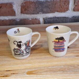 Duo de tasses espresso Chats de la collection Bug Art