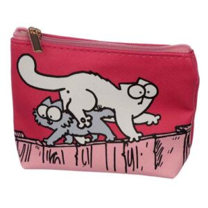 Porte-monnaie Simon's Cat rose vif