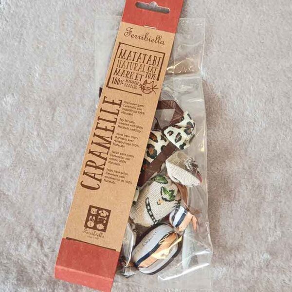 Jouet pour chat au matatabi en forme de bonbons