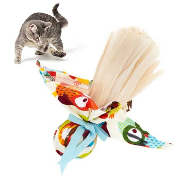 Jouet pour chat Baluchon d'herbe à chat et paille