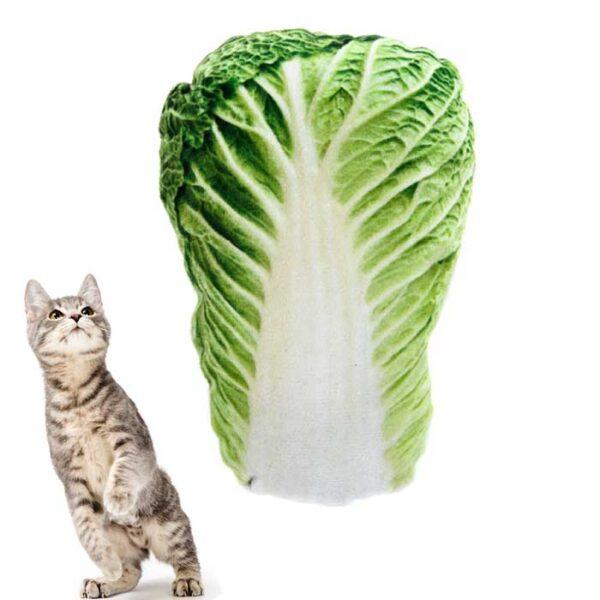 Jouet fourré d'herbe à chat (matatabi) en forme de coeur de laitue